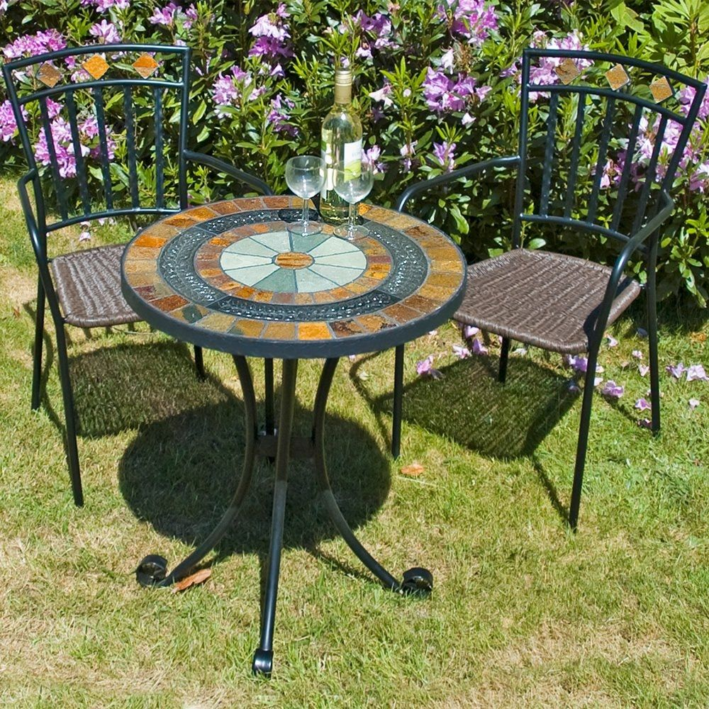 Gentil Garden Furniture Mosaic Table Set