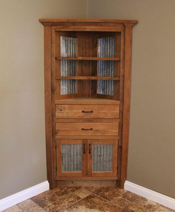 Rustic corner cabinet I love rustic