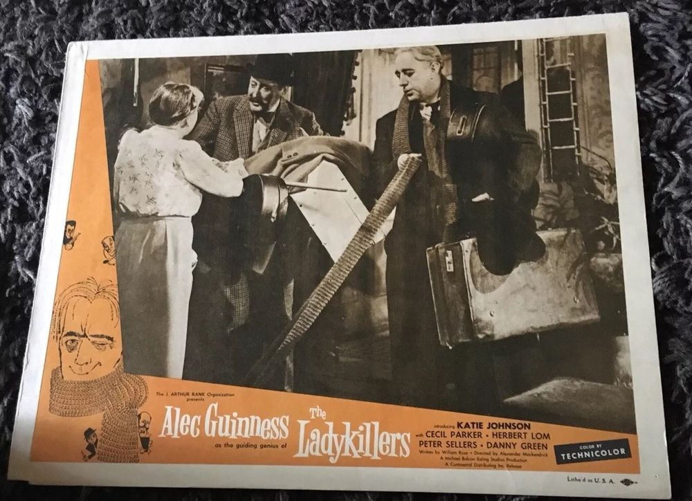 on sale free shipping save up to 80% LADYKILLERS Lobby Card 1956 Alec Guinness & Cecil Parker ...