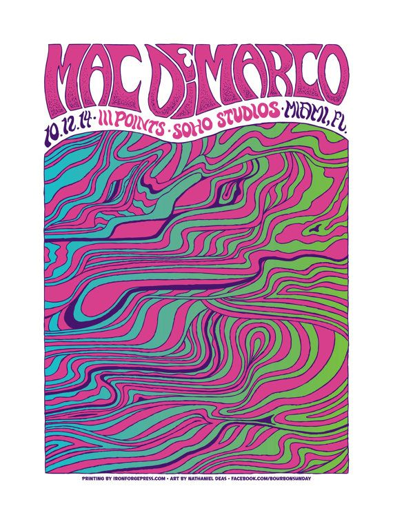 Mac DeMarco concert poster III Points Festival by nathanieldeas