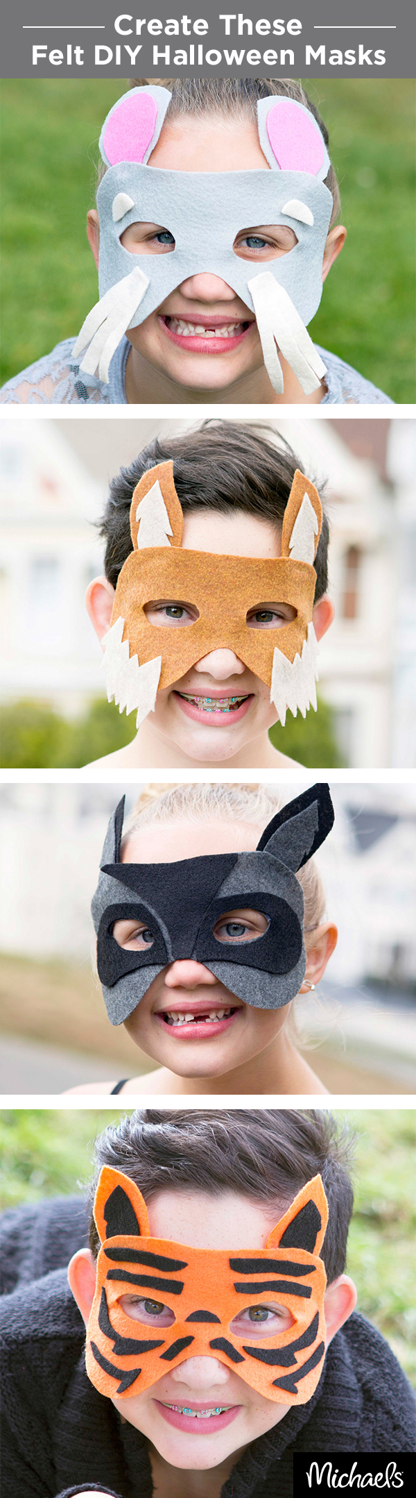 Create quick costumes with these fun no-sew animal masks. Watch ...