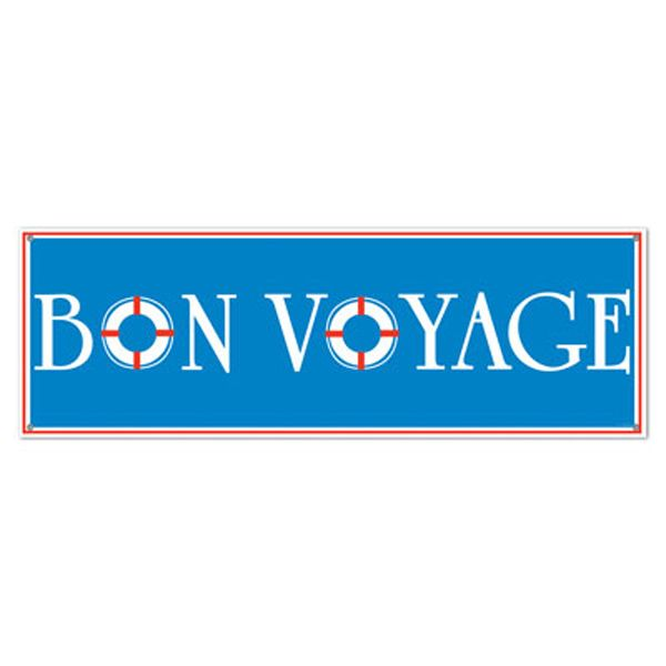 discover ideas about cruise theme parties this bon voyage sign banner