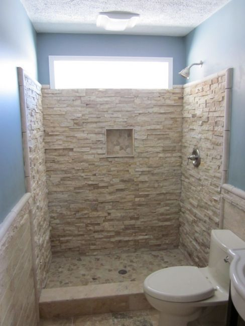 25 Stone Flooring Ideas With Pros And Cons: 25+ Walk In Showers For Small Bathrooms (To Your Ideas And