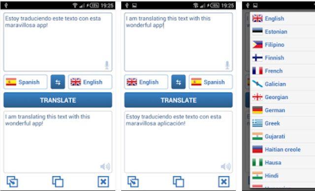 Language Translator APK Language, Spanish english, Android