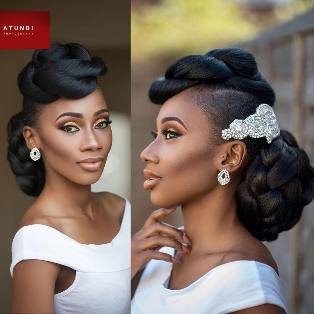 Wedding Hairstyles For Natural Black Hair: FLAWLESS On Www.bellanaija.com/weddings NOW! : @atunbi
