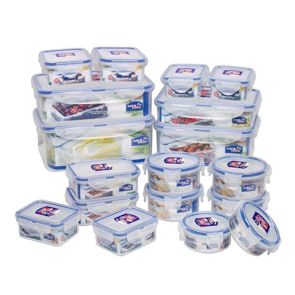 LOCK n & LOCK Airtight Plastic Kitchen Food containers box storage ...