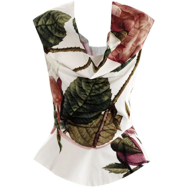 Vivienne Westwood Anglomania Amaryllis rose puzzle-print top ($377) found on Polyvore
