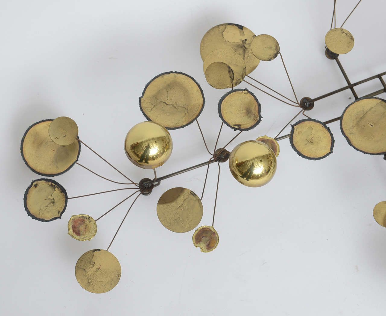 Perfect Brass Raindrops Wall Sculpture By C. Jere, Manufactured By Artisan House