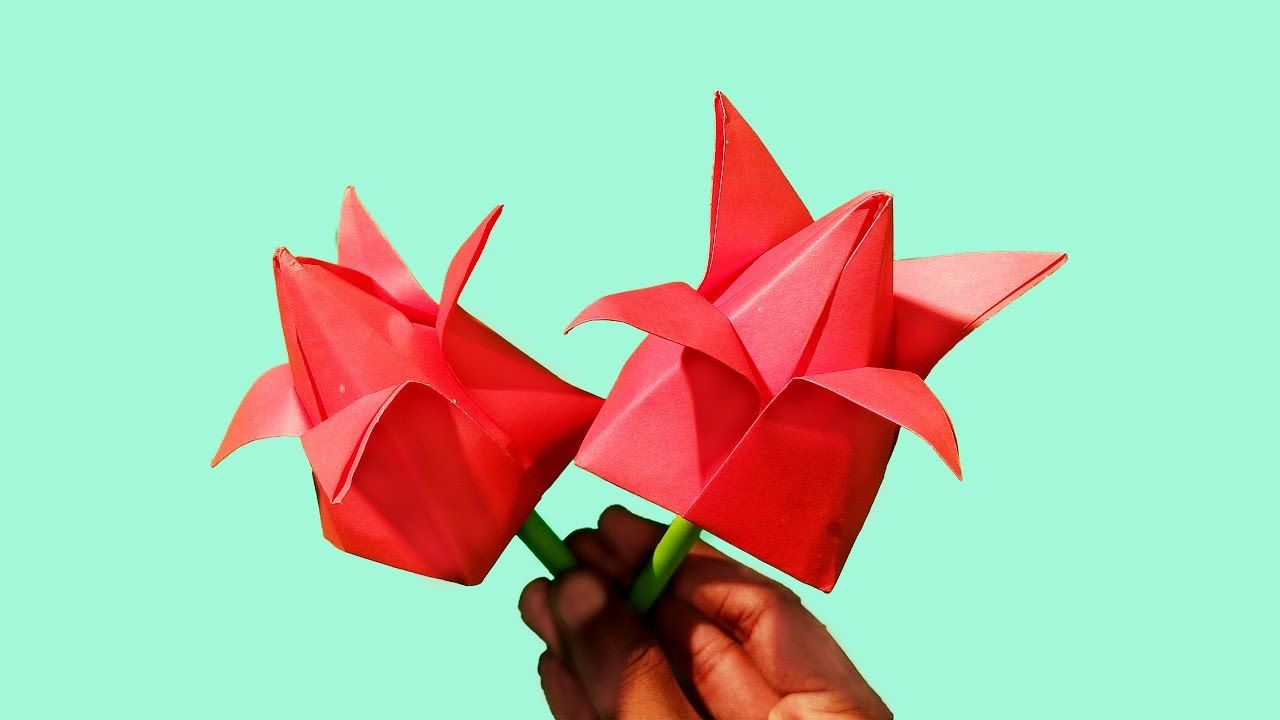 How to make Paper Flowers Water Lily \ Nymphaea (flower # 194 ... | 720x1280