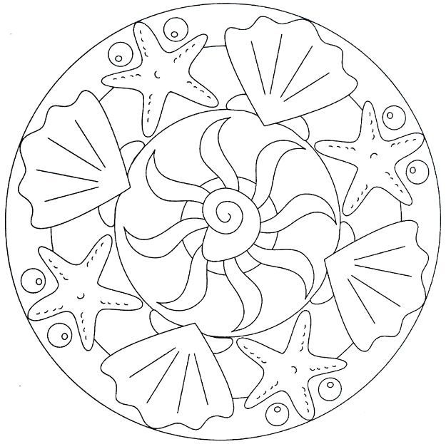Sea Animal Mandala Coloring Page Crafts And Worksheets For Preschool Toddler And Kindergarten In 2020 Mandala Coloring Mandala Coloring Pages Simple Mandala