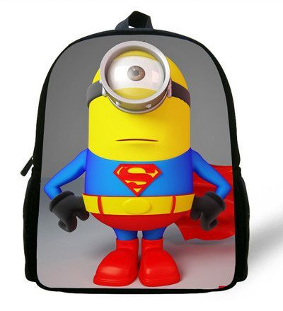 87bbd99488 12inch Small infants child cartoon School Bag Toddler Despicable Me Minions School  Backpack for Boys Girl kids kindergarten Cute