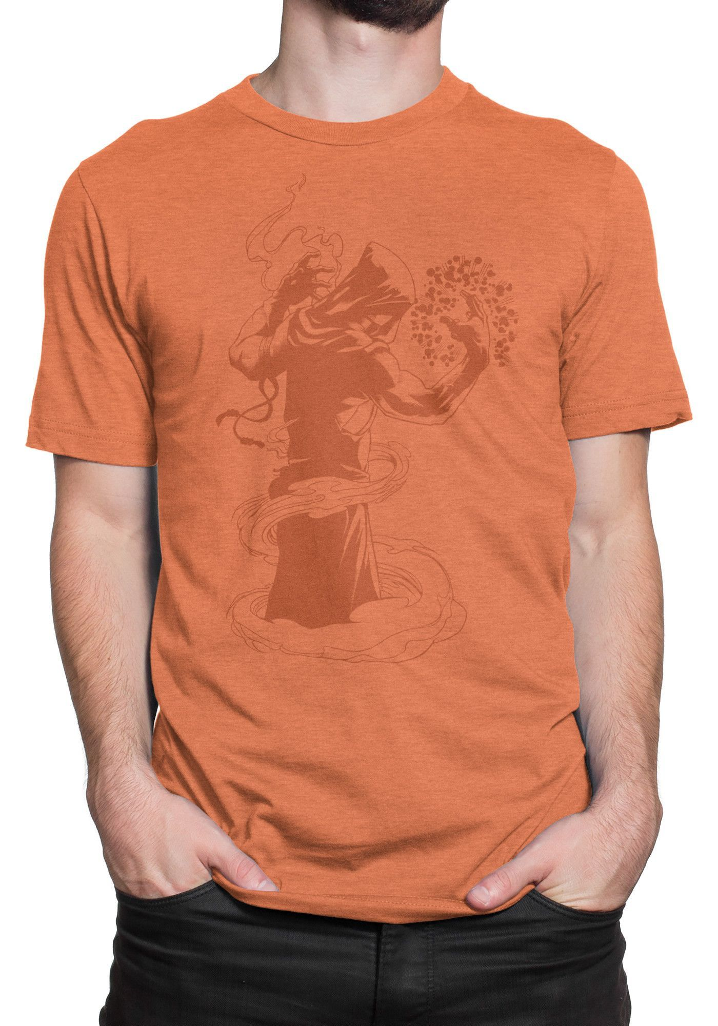 Zekliv the Mage Short Sleeve T-Shirt - Orange