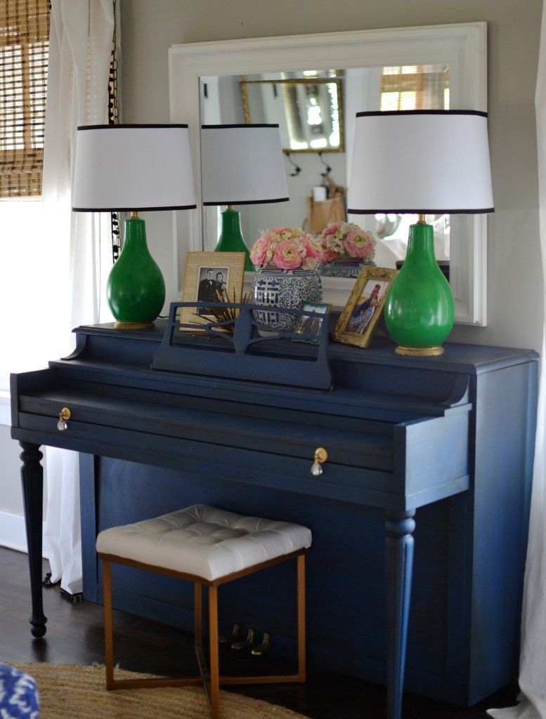 Holly From Love The Tompkins Blog Painted Her Piano In Napoleonic Blue A Colour I