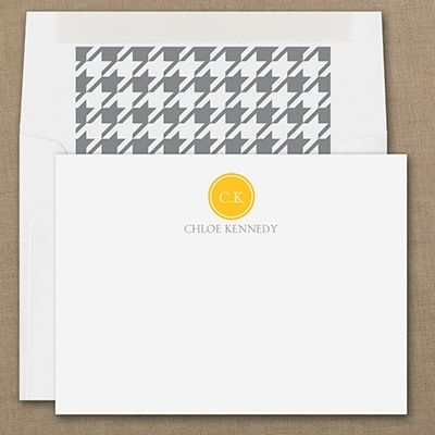 precisely personal note card white personalized note cards