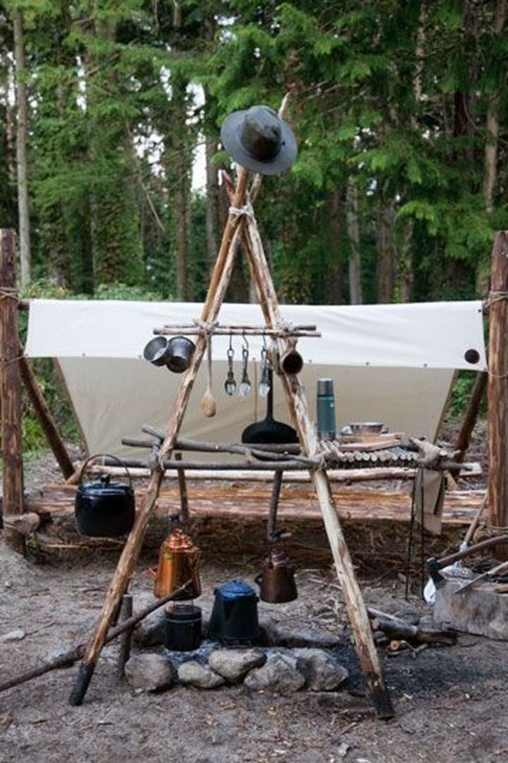 Cozy Outdoor Camping Kitchen Ideas For Comfortable Camping