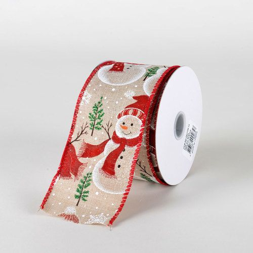 Red Hat Glitter Snowman Ribbon - (25\u0027\u0027x10yds) - X81734014