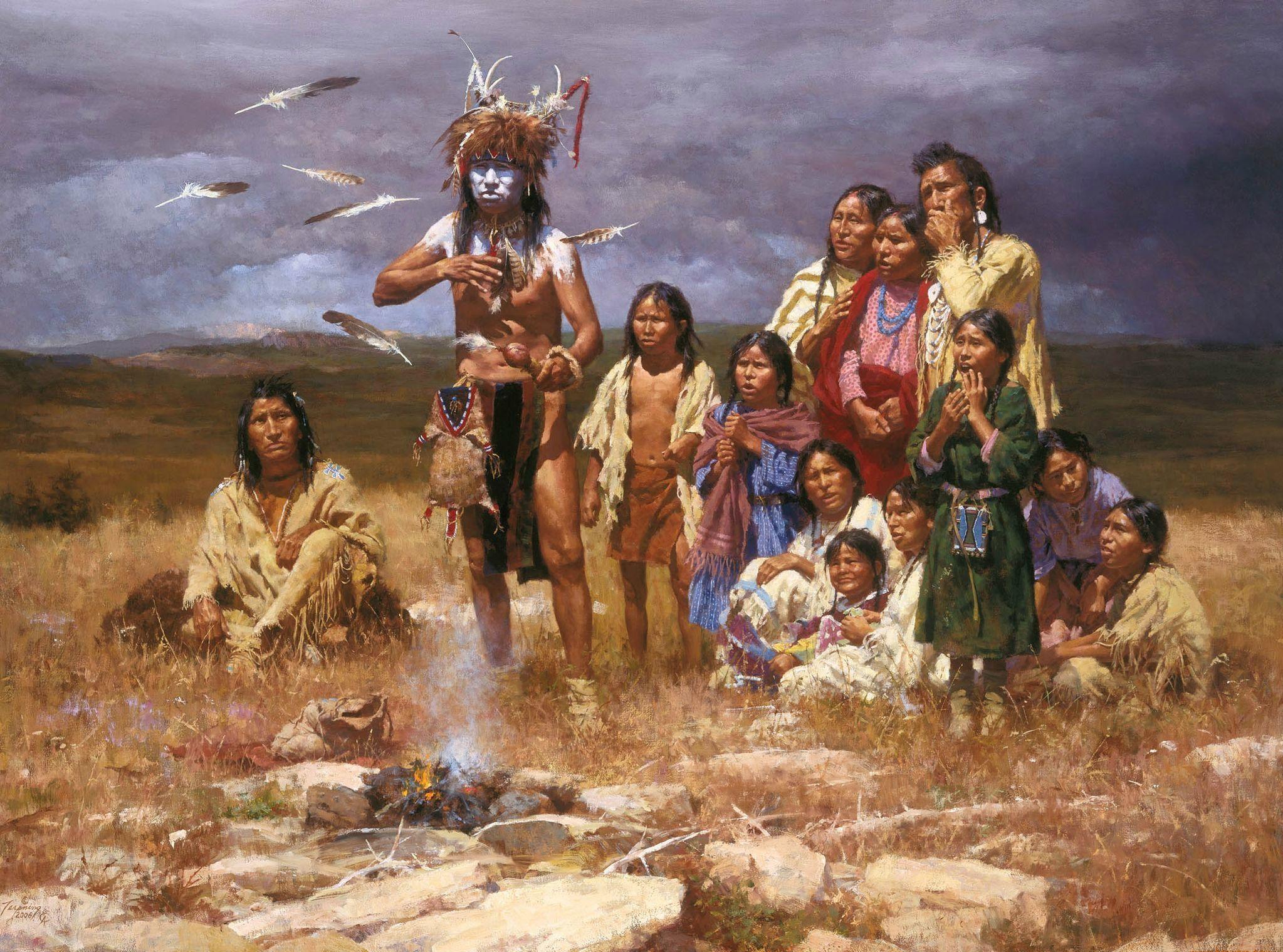 Native American artist Native Americans Paintings, Art