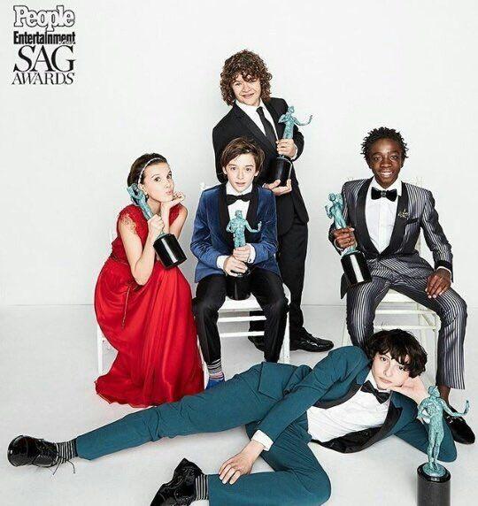 The cast of Stranger Things at SAG Awards