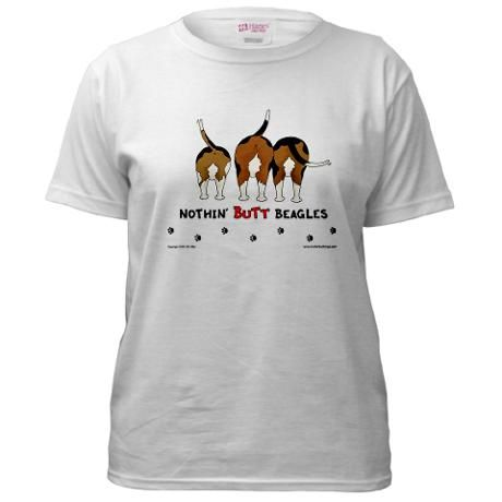 Nothin Butt Beagles Ash Grey Women S Classic T Shirt Beagles