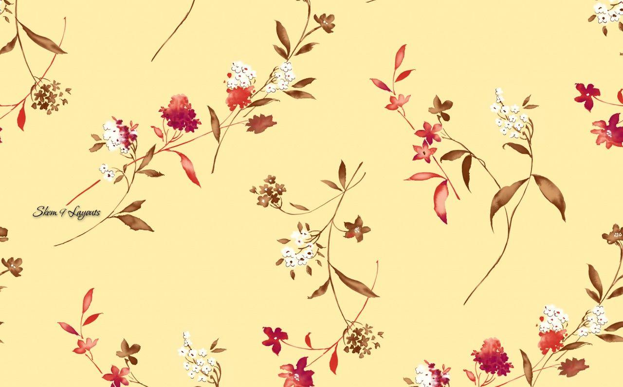 Floral print wallpaper flower print wallpaper i just for Print wallpaper designs