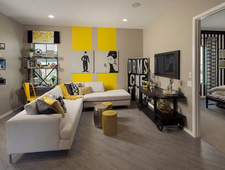 modern grey and yellow living room designs | ma maison | pinterest