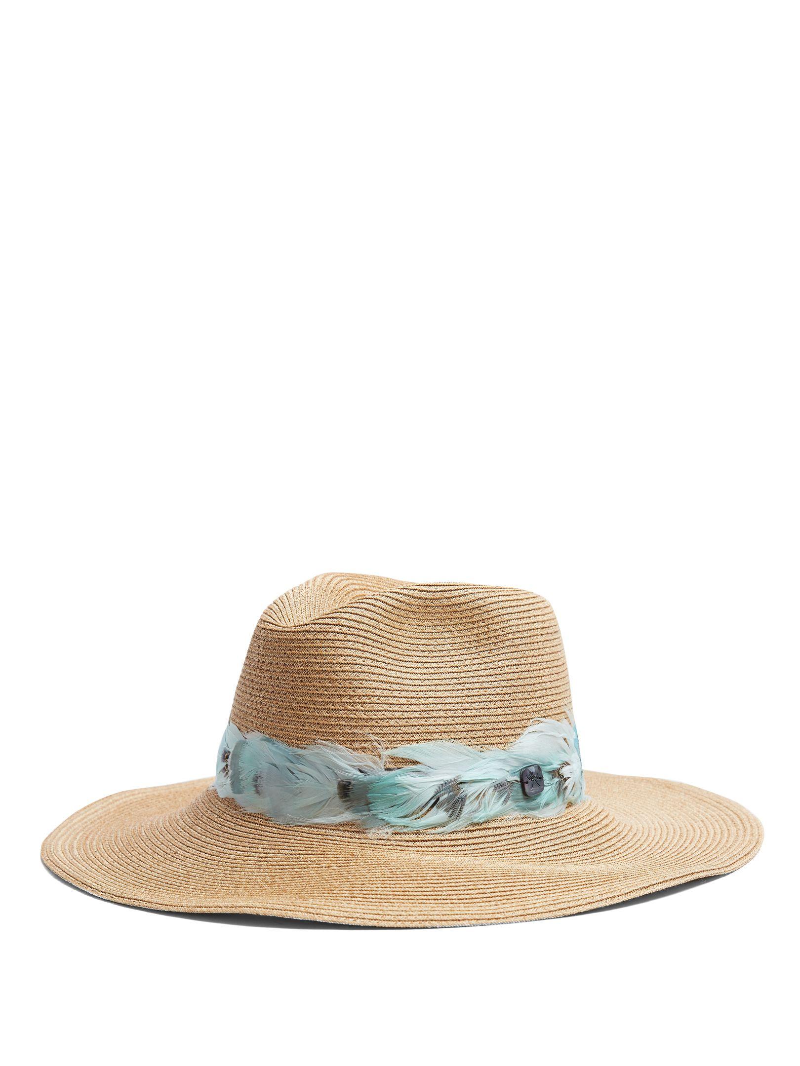 Batu Tara pompom-trimmed straw hat Fil yggkz