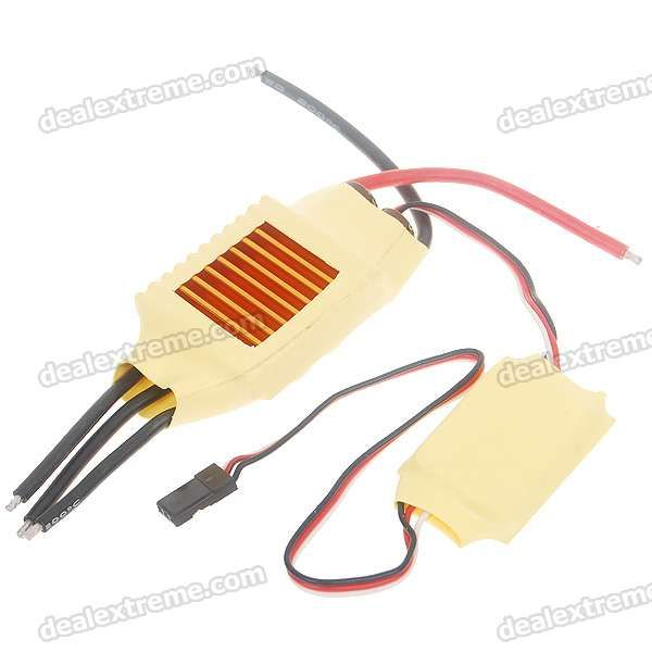 Speed Controller 50A BEC for Brushless Motors on R/C Helicopters. 50A BEC (Max 65A) - 3~7S Li-Po, 6~20s Ni-mh b