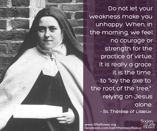 St Therese Daily Inspiration Do Not Let Your Weakness Make You