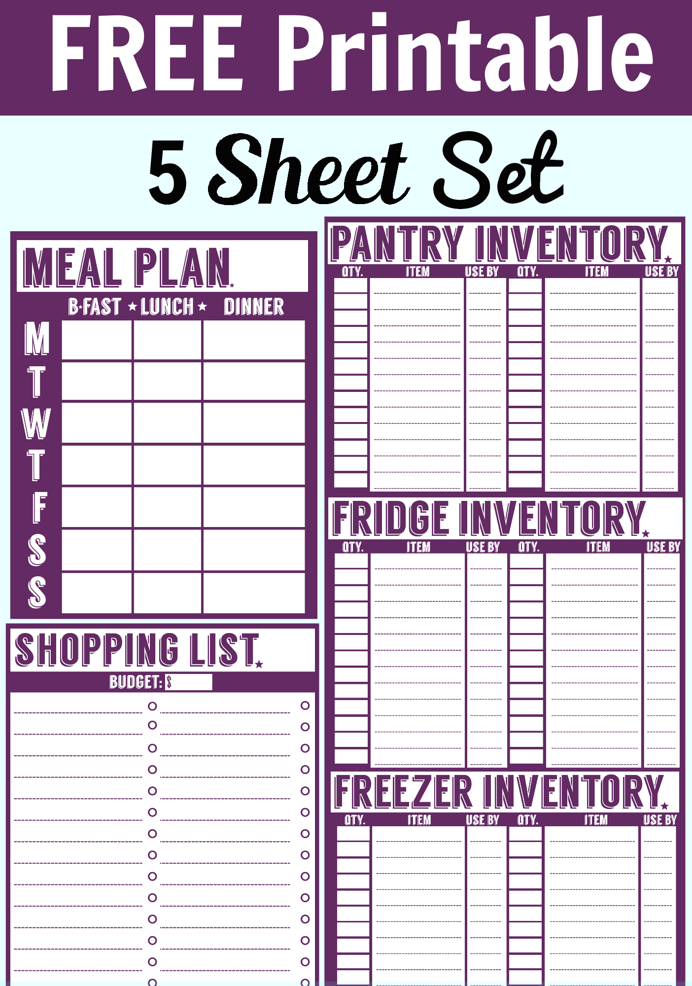 printable inventory sheet