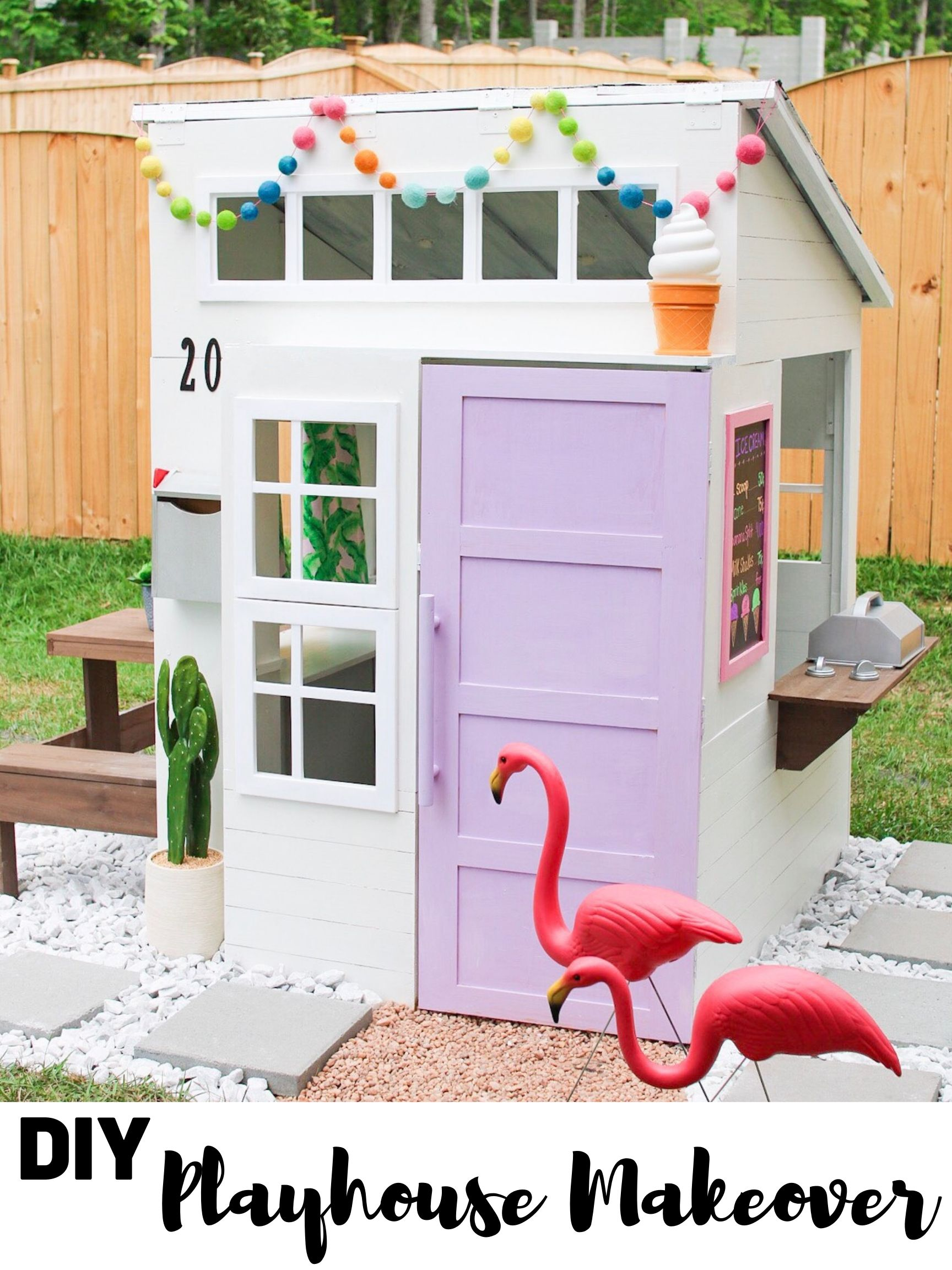 Diy Ice Cream Shop Playhouse Kristen Harrison Play Houses Playhouse Outdoor Build A Playhouse