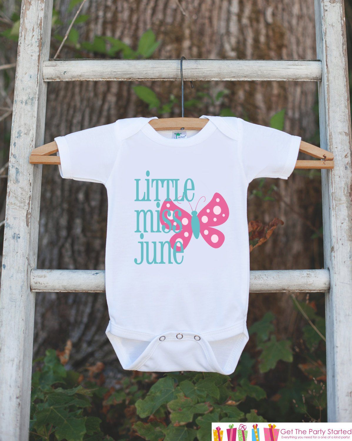 Little Miss June Onepiece Bodysuit Take Home Outfit For Newborn