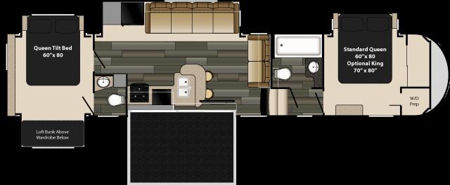 Gw 3750 Pt My Favorite Interiors Bunk Room W Door Travel Trailer Floor Plans Rv Floor Plans Rv