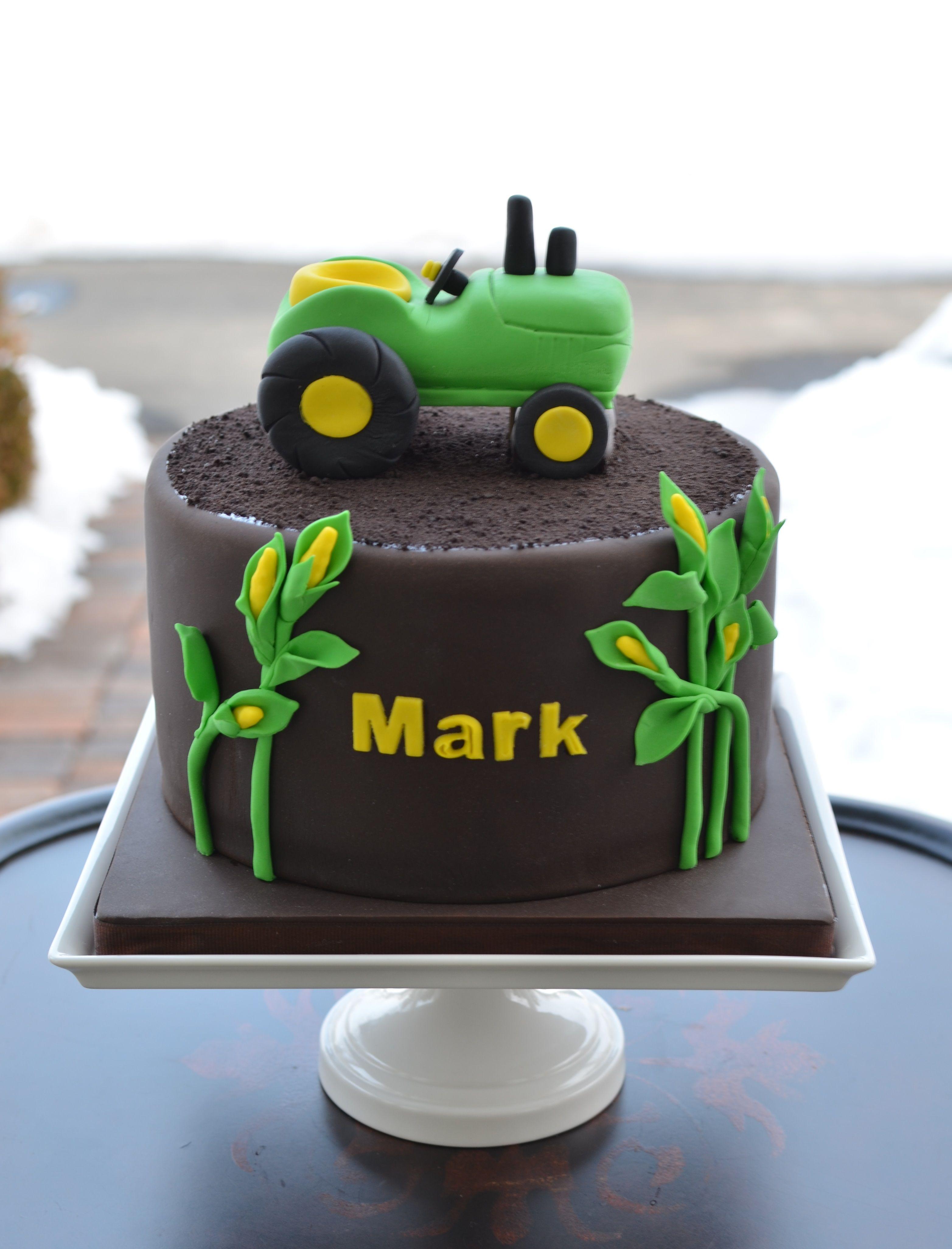 John Deere tractor birthday cake CAKE Pinterest Tractor