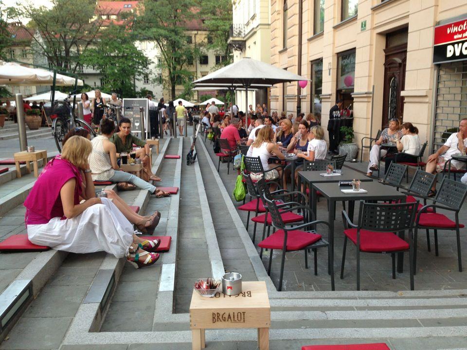 Dvorni bar in Ljubljana. Great place to sample local wines.