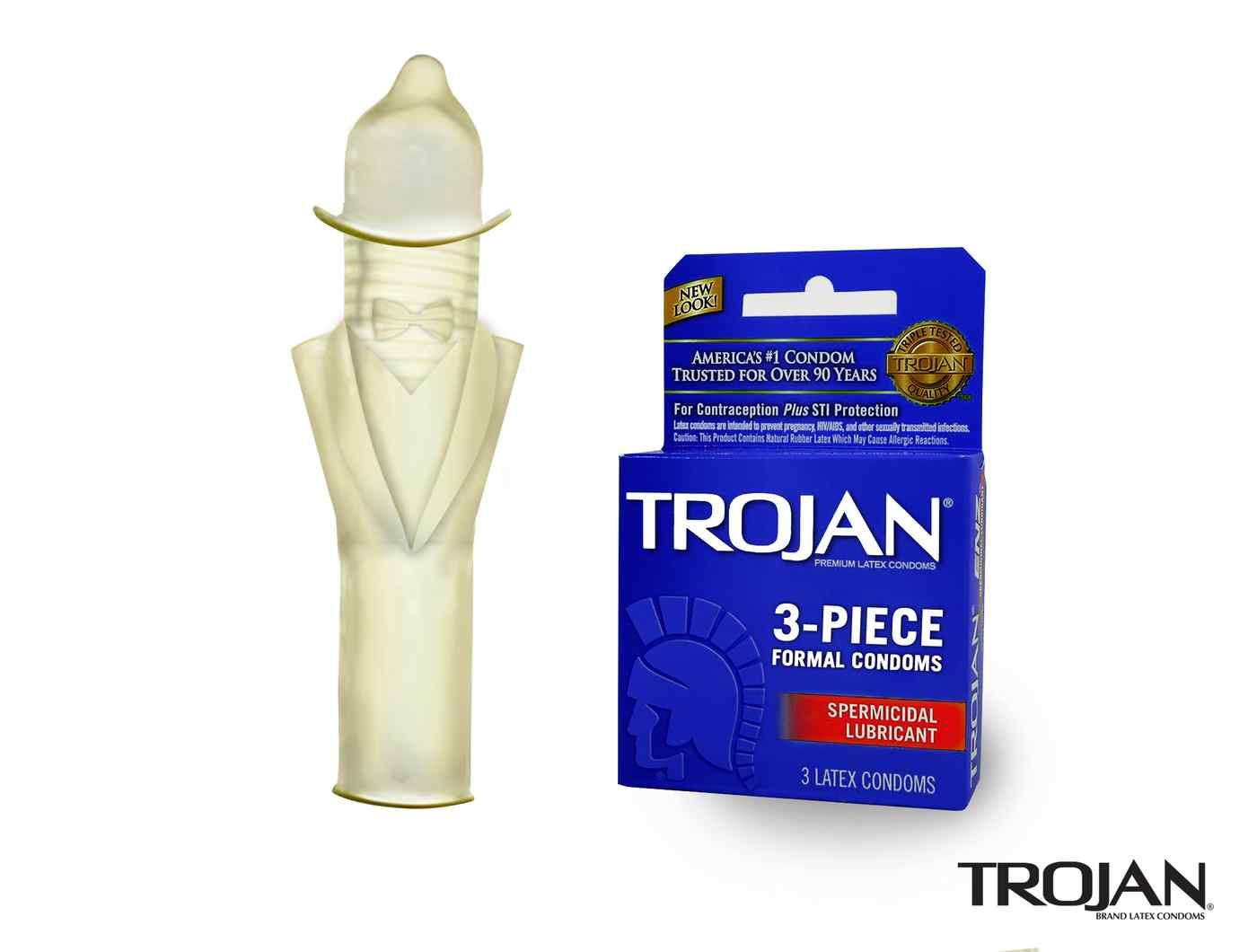 Piece Ad Trojan Unveils New 3 Piece Formal Condoms Humor