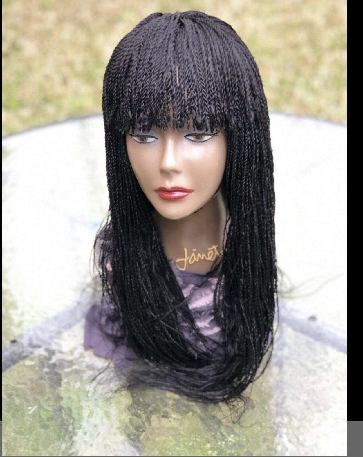 Braided twist wig with a fringemade to orderyou can