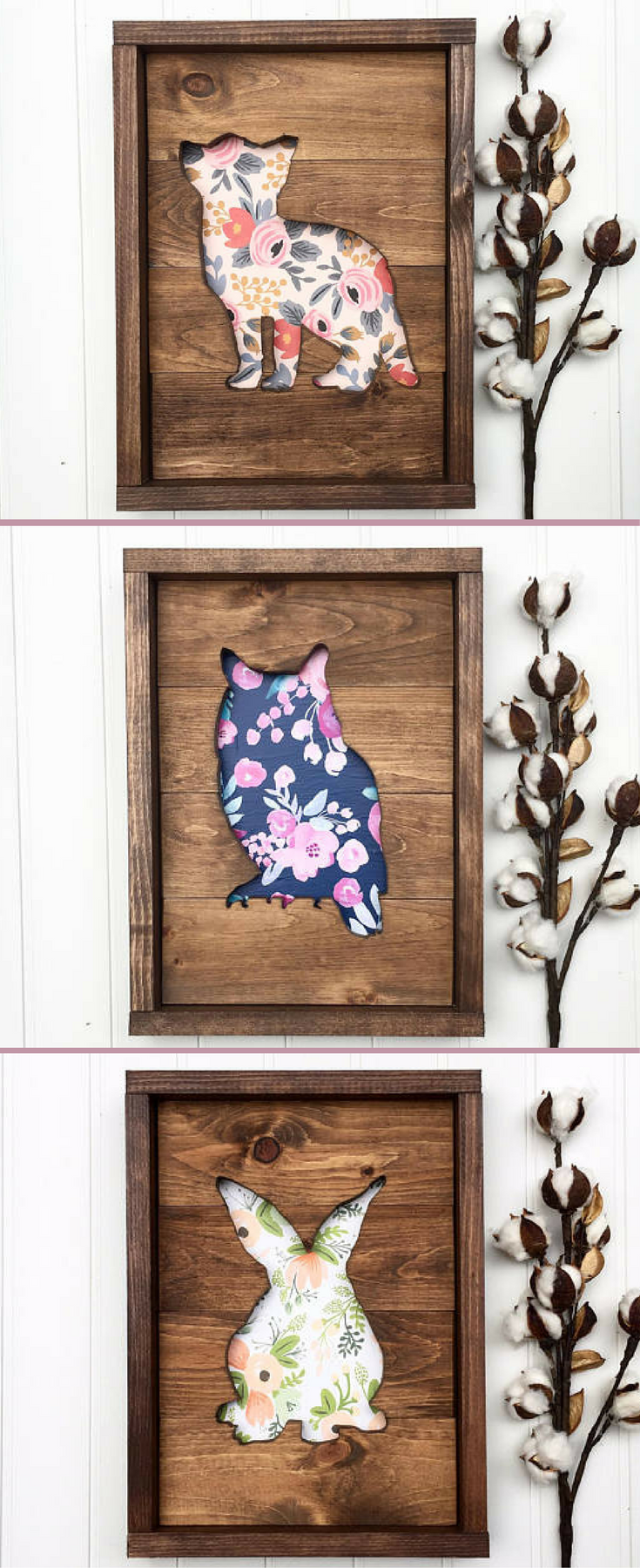 Woodland nursery art, Fox sign, Owl sign, bunny rabbit sign, Nursery wooden decor, Wood sign, home decor, Animal cutout wood, Rustic Nursery decor, Baby shower gift idea, floral nursery sign #ad -   24 nursery decor animals ideas