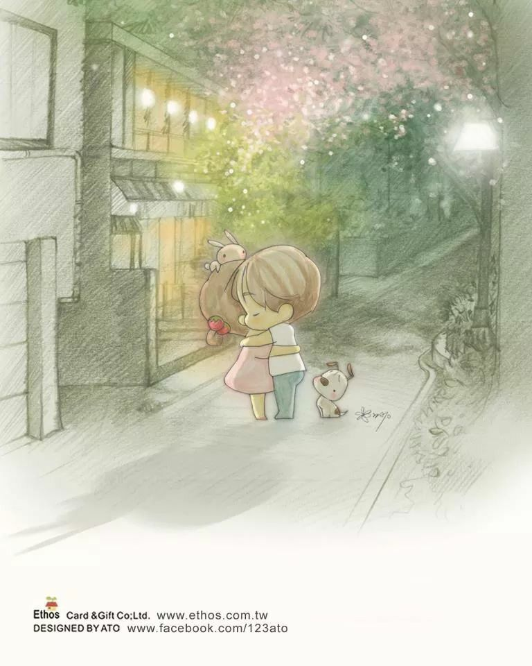 Cute Hug Couple Wallpaper Amy And Tim Dessins Mignons Images Mignonnes Kawaii