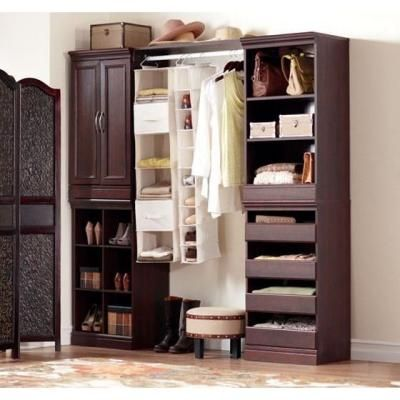 Custom Closets Home Decorators Collection Manhattan 40 In H Cherry Modular Storage Drawers 0380510120 The
