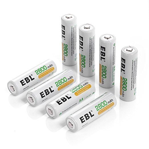 Ebl 8 Pack High Capacity 2800mah Aa Ni Mh Rechargeable Batteries Battery Case Included Rechargeable Batteries Battery Cases Charger Accessories