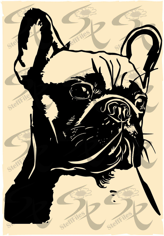 Vector French Bulldoganimalsartdownload Files Graphical Etsy French Bulldog Art Downloadable Art Bulldog