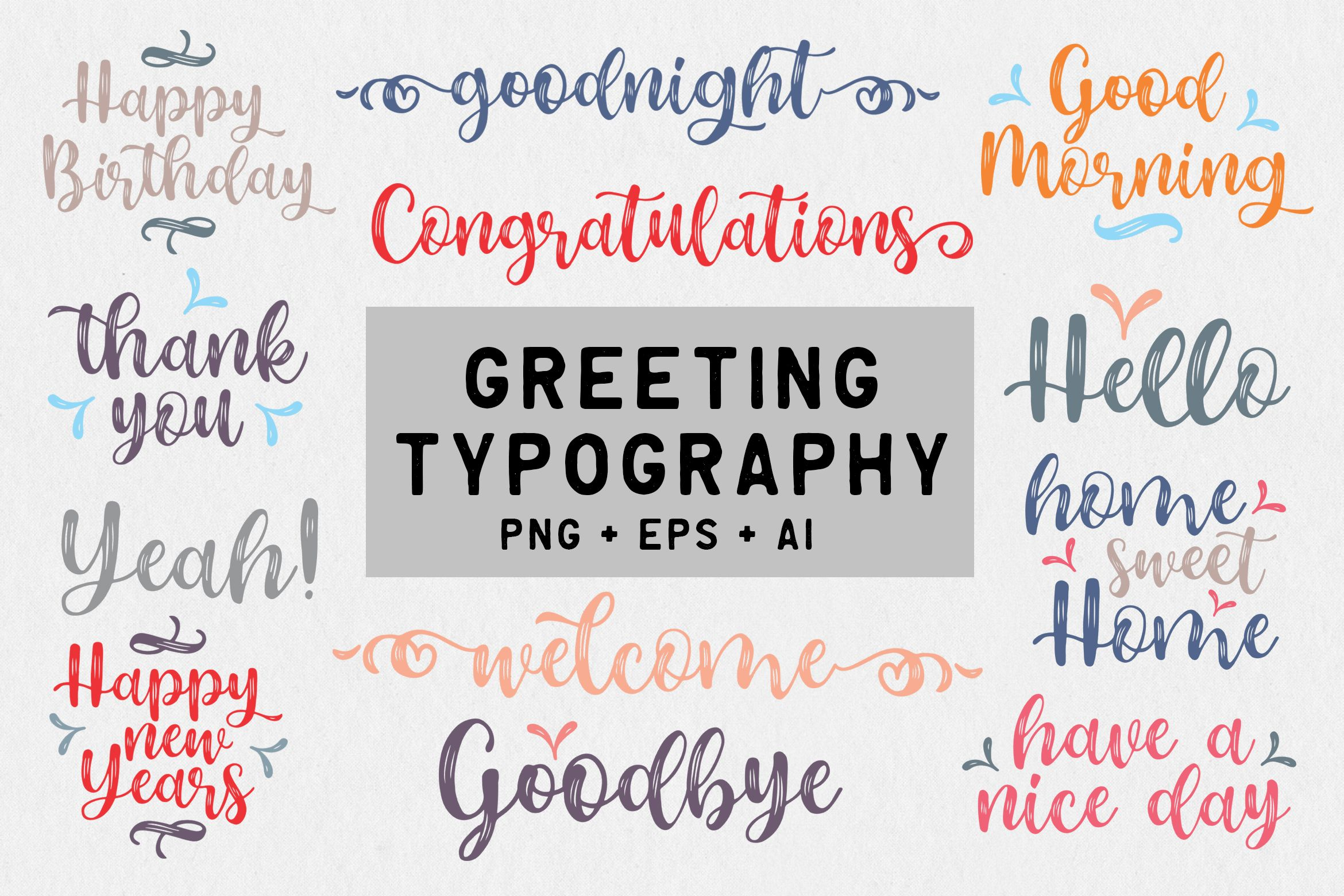 Download Free Greeting Typography Graphic By Letterzhe SVG Cut Files