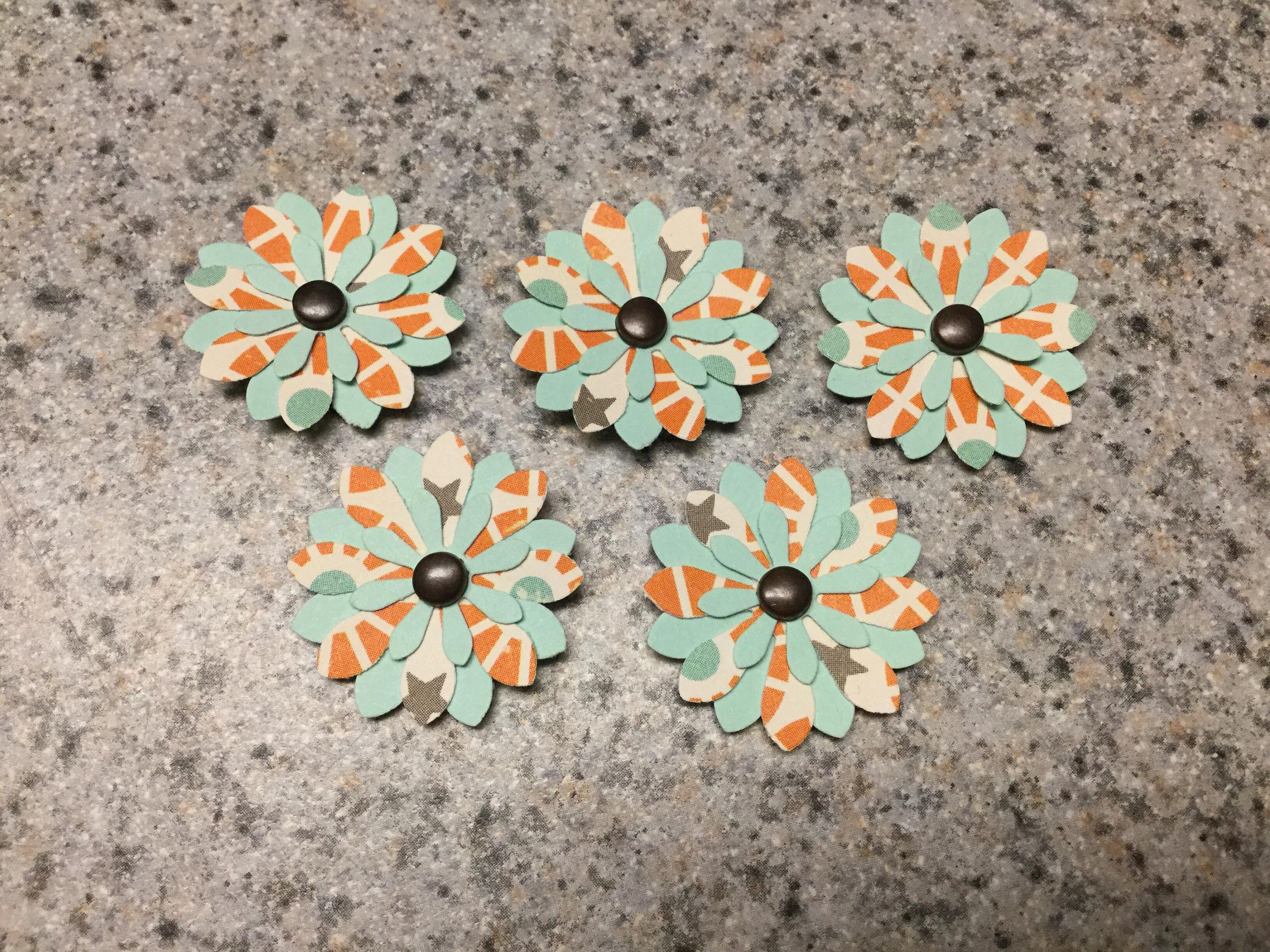 Handmade Small Paper Flowers - 5 Pack by cemFLORAL on Etsy ...