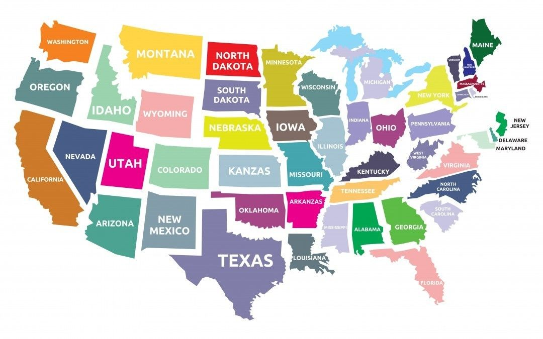 AP Style Spelling Out State Names AP Style Basics Pinterest - Ap map of us
