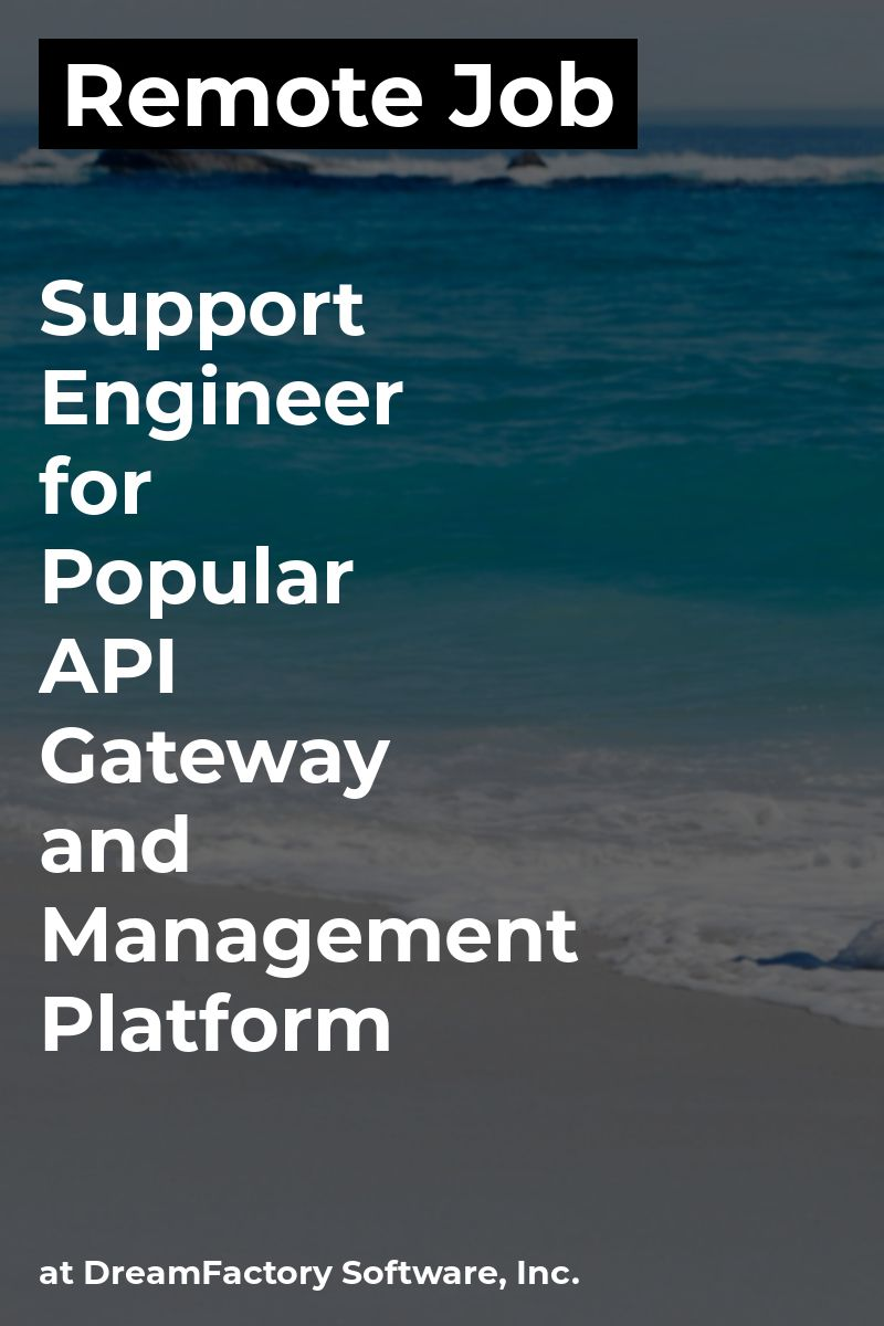 Remote Support Engineer for Popular API Gateway and
