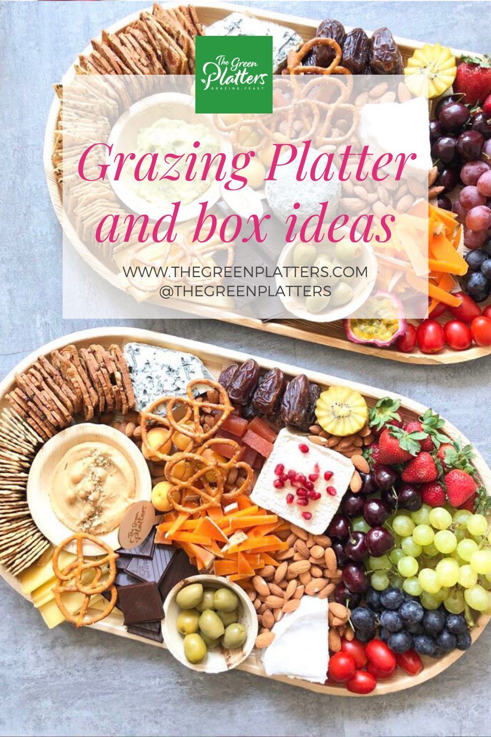 Beautiful Grazing Platter And Boxes By The Green Platters In 2020 Vegan Cheese Boards Vegetarian Platter Cheese Platters