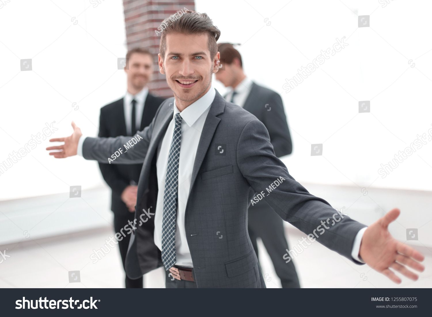 Successful Business Man With Open Armsbusiness Successful Man Arms
