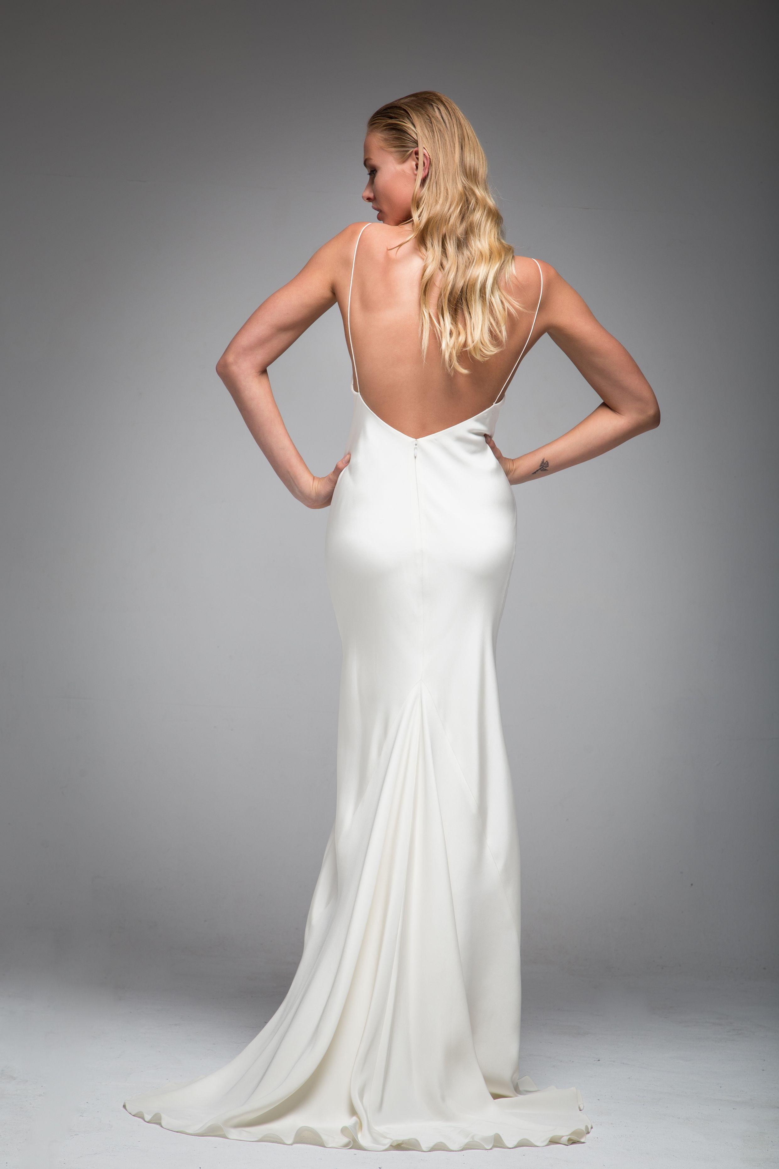 Tamora Wedding Dress Kelly Faetanini Backless Wedding Dress Spaghetti Strap Wedding Dress Backless Wedding [ 1921 x 921 Pixel ]