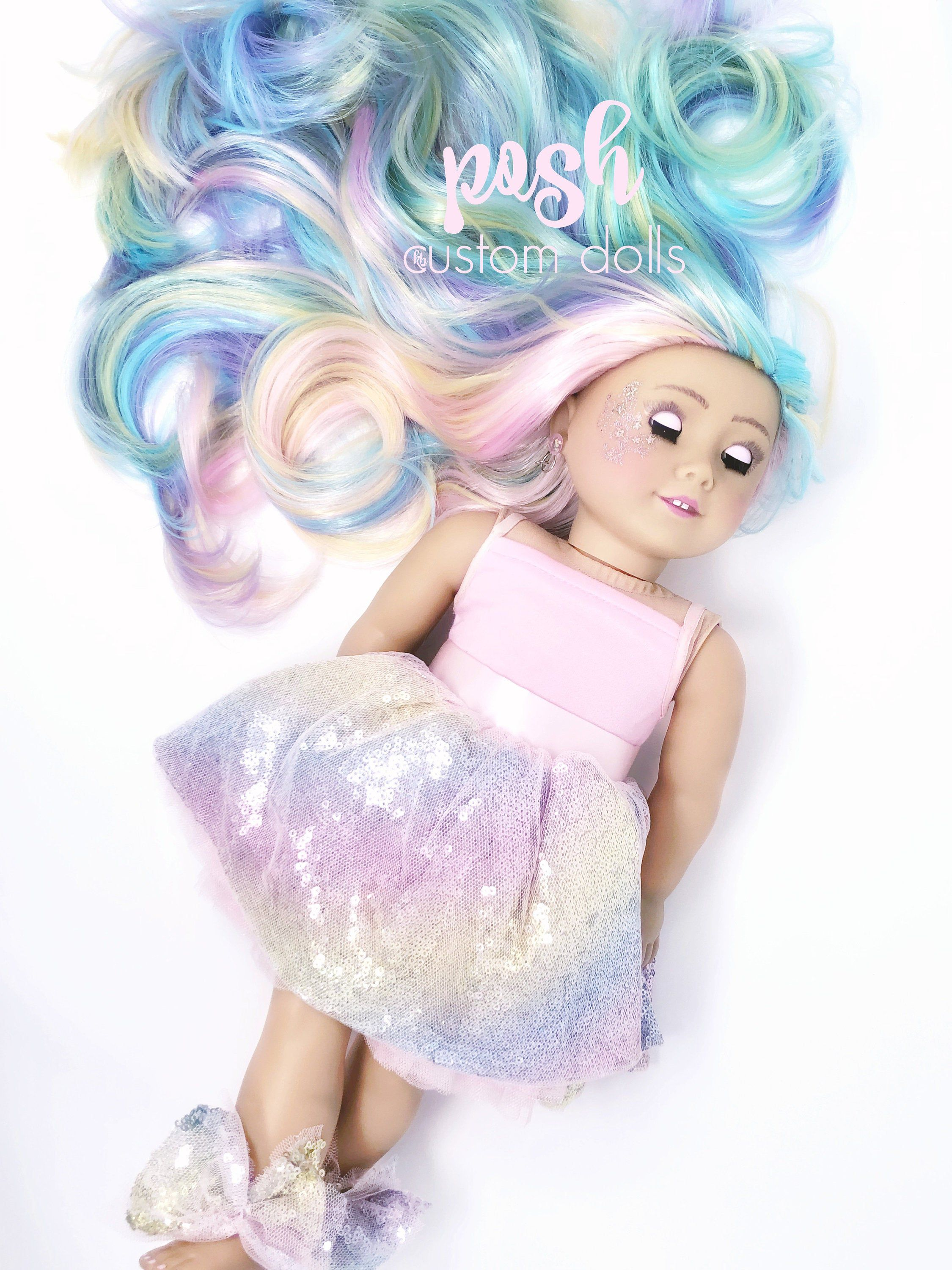 EXAMPLE ONLY Custom American Girl Doll, 18 Inch doll such as Journey, Our Generation and American Girl Made to Order Unicorn Sparkle Dolls
