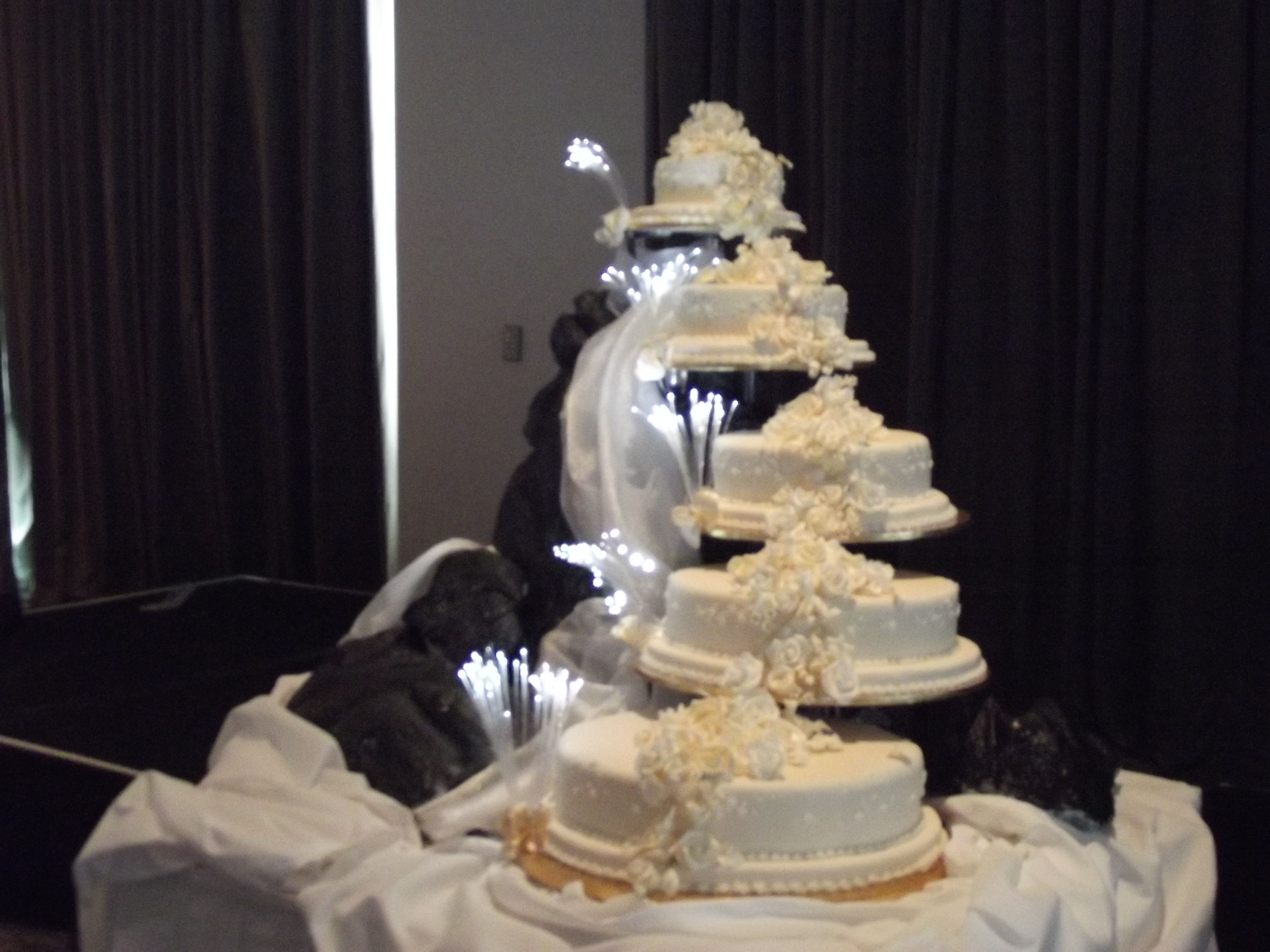 5 Tiered Water Fall Themed Wedding Cake At The Hilton Hotel Auckland Www